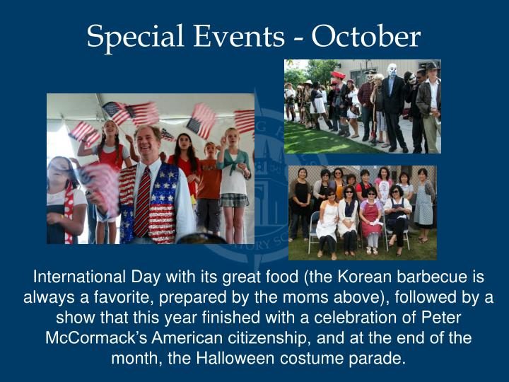 Special Events - October