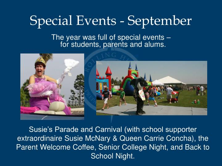 Special Events - September