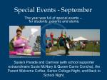 special events september