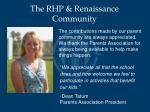 the rhp renaissance community