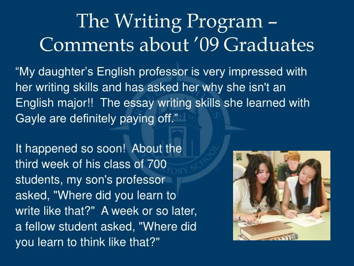 The Writing Program –
