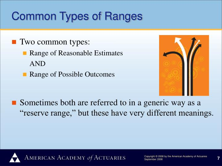 Common Types of Ranges