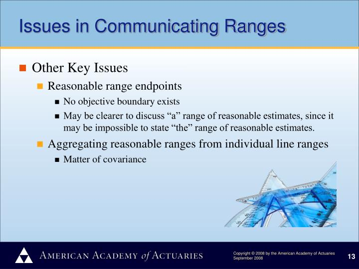 Issues in Communicating Ranges