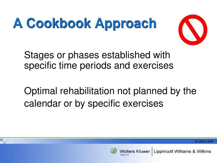 A Cookbook Approach