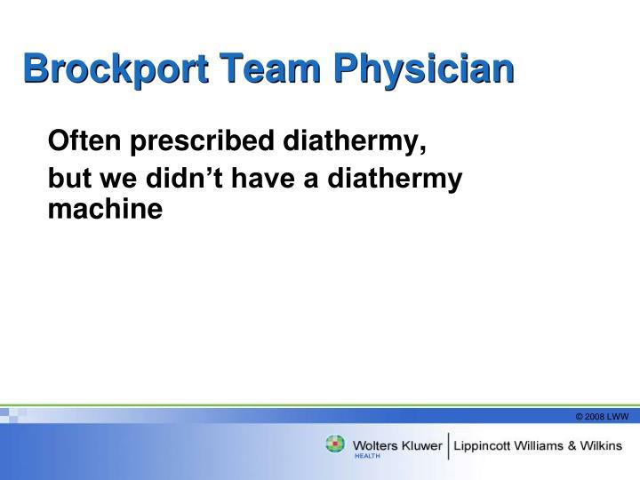 Brockport Team Physician