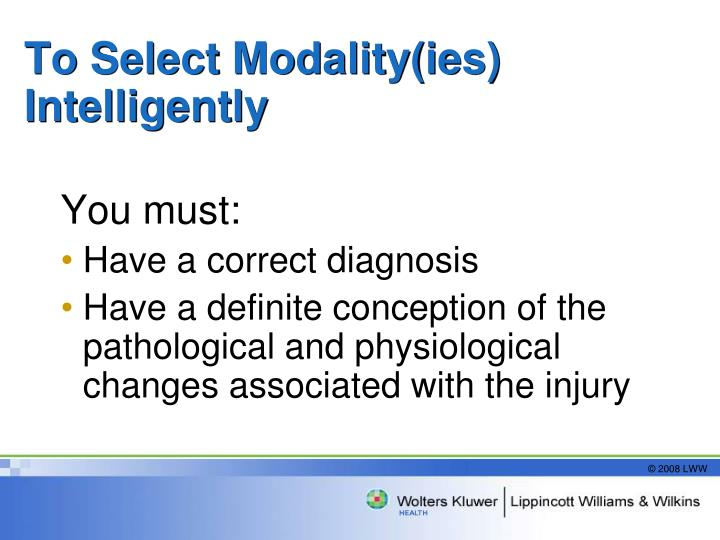 To Select Modality(ies) Intelligently