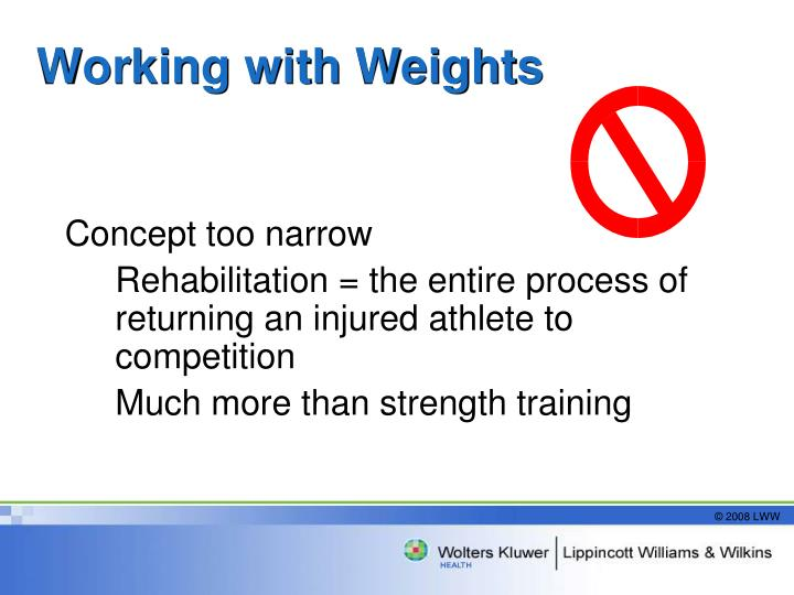 Working with Weights