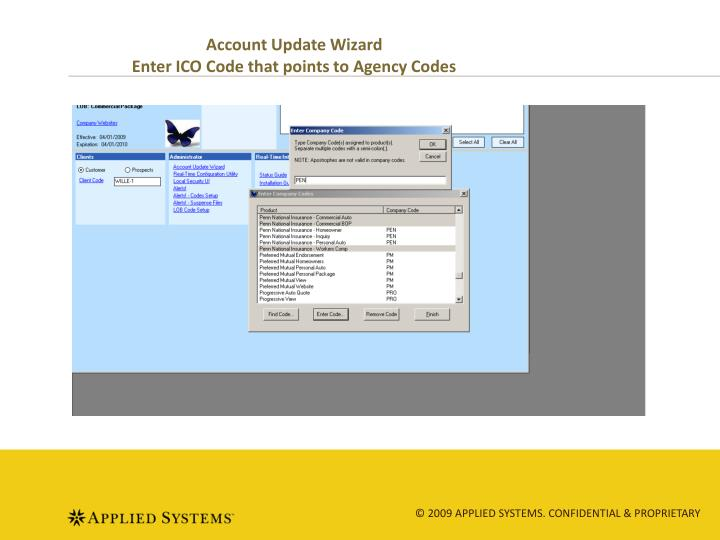 Account Update Wizard