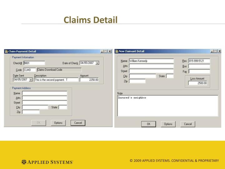 Claims Detail