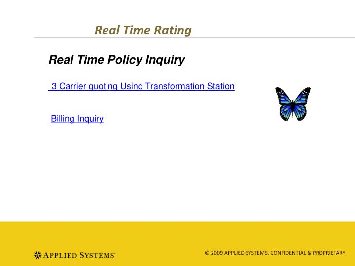 Real Time Rating