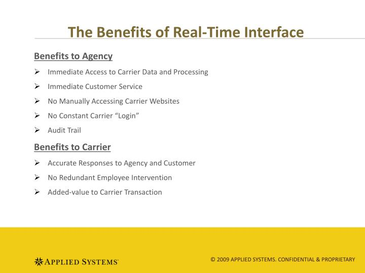 The Benefits of Real-Time Interface
