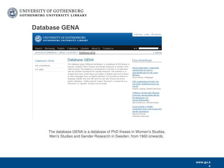 Database GENA