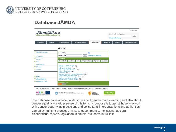 Database JÄMDA