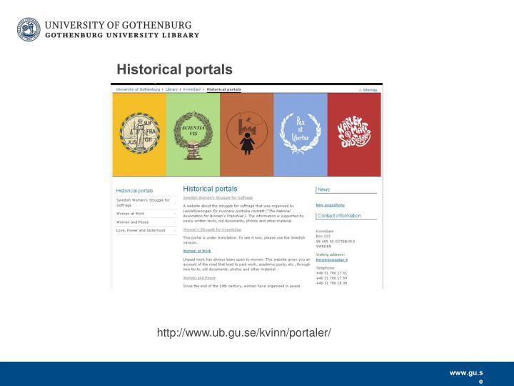 Historical portals