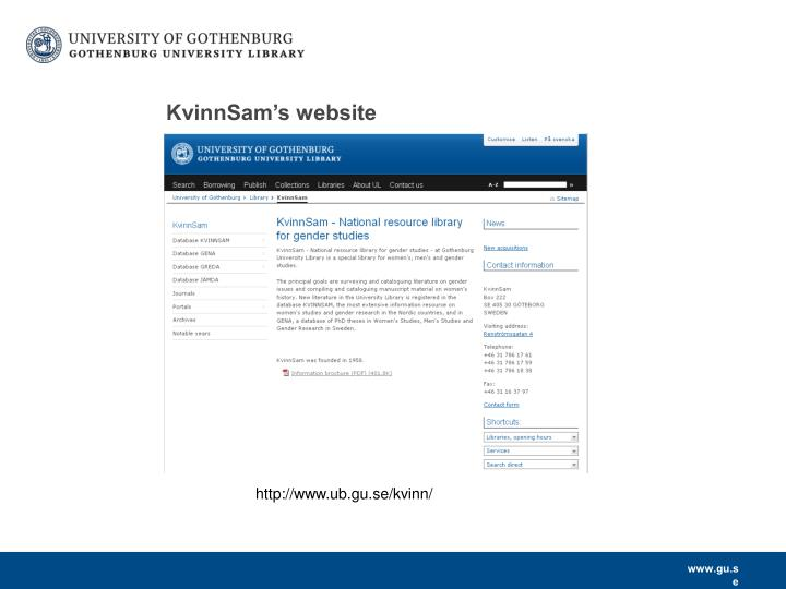 KvinnSam's website