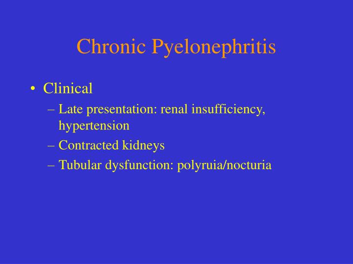 Chronic Pyelonephritis