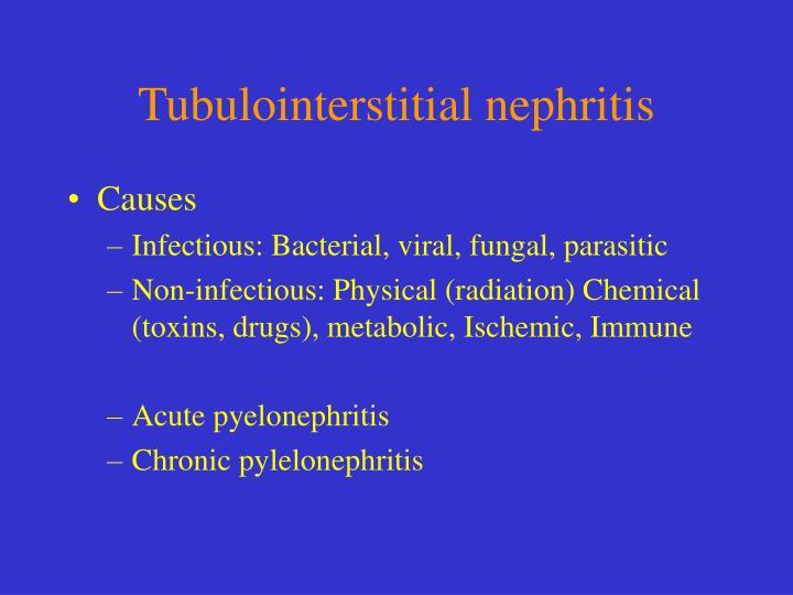 Tubulointerstitial nephritis
