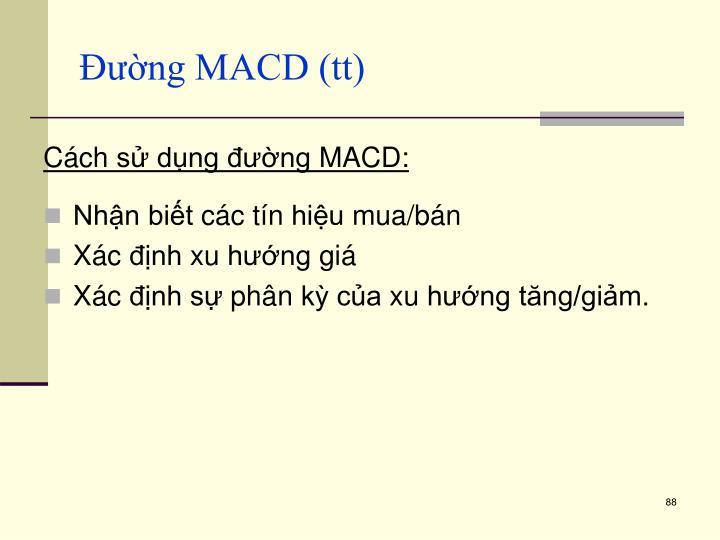 Đường MACD (tt)