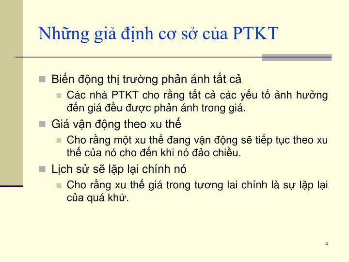 Những giả định cơ sở của PTKT