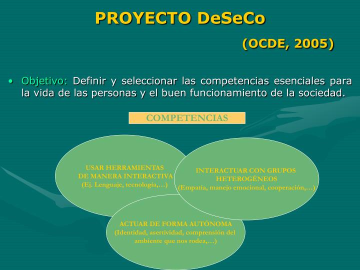 PROYECTO DeSeCo