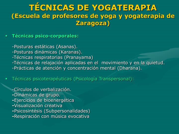 TÉCNICAS DE YOGATERAPIA