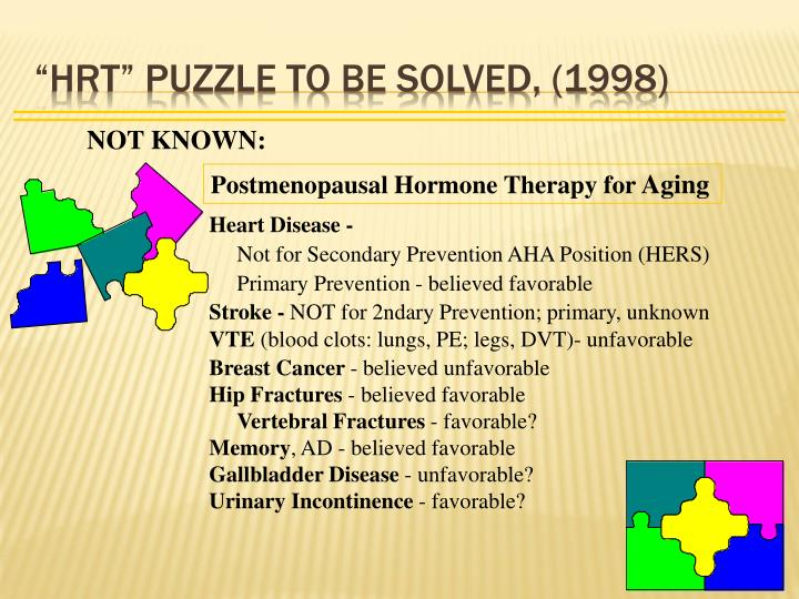 """HRT"" PUZZLE TO BE SOLVED, (1998)"