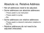 absolute vs relative address