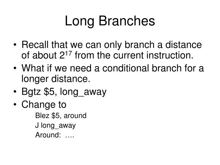 Long Branches