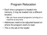program relocation