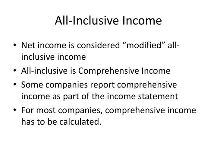 All-Inclusive Income