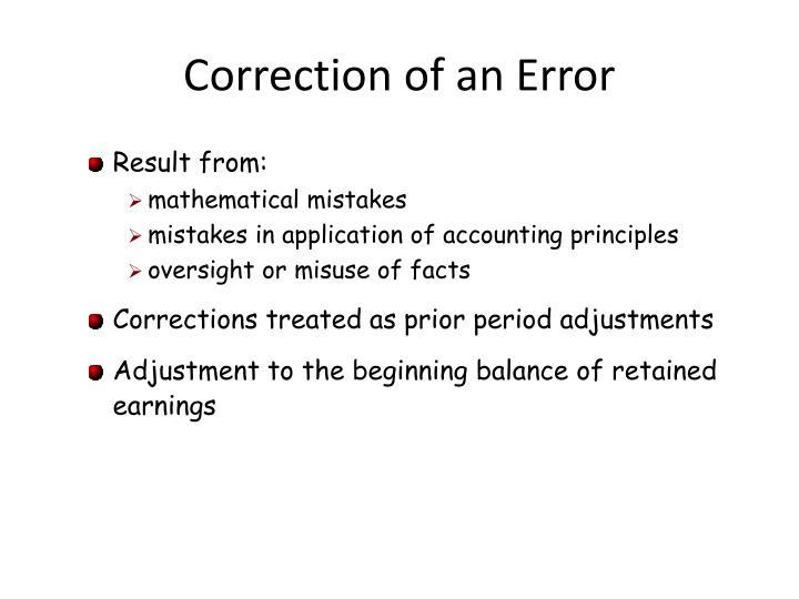 Correction of an Error