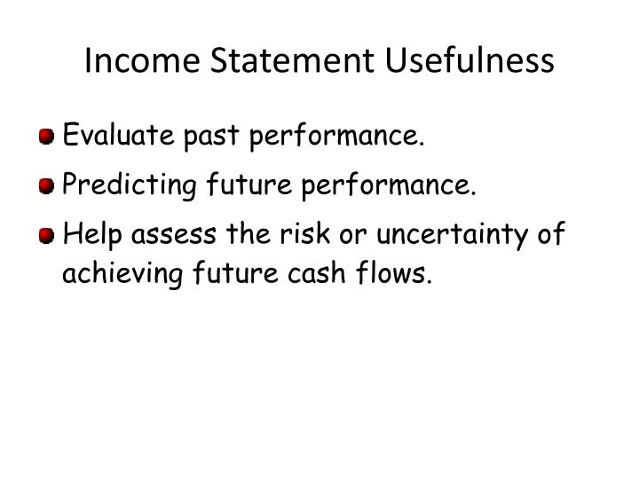 Income statement usefulness