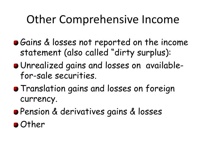 Other Comprehensive Income