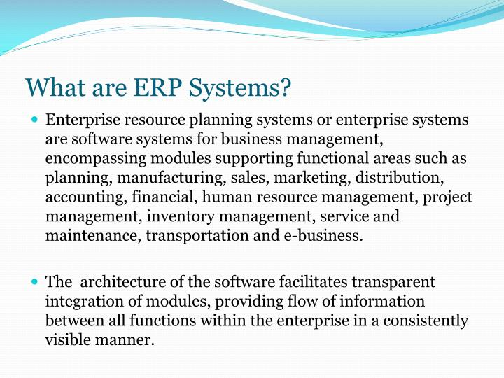 What are erp systems