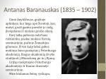antanas baranauskas 1835 1902