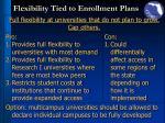 flexibility tied to enrollment plans