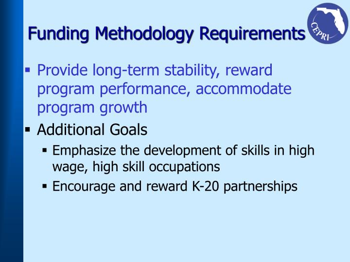 Funding Methodology Requirements