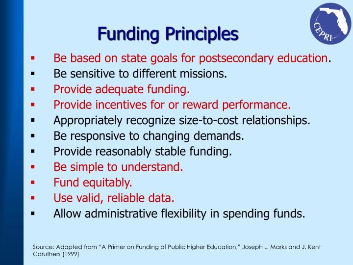 Funding Principles