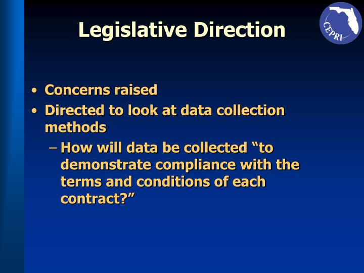 Legislative Direction