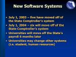 new software systems