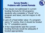 survey results problems with current formula1