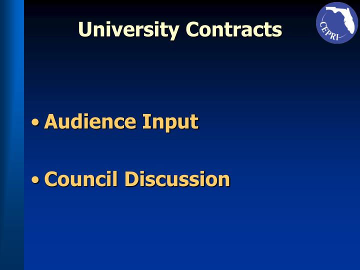 University Contracts