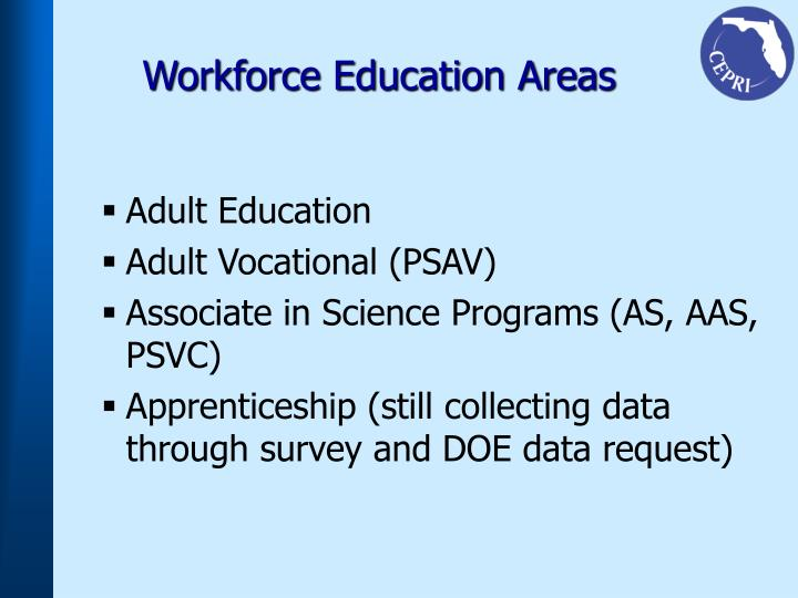 Workforce Education Areas