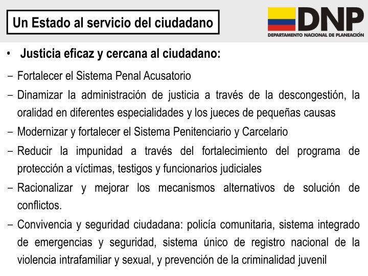 Un Estado al servicio del ciudadano