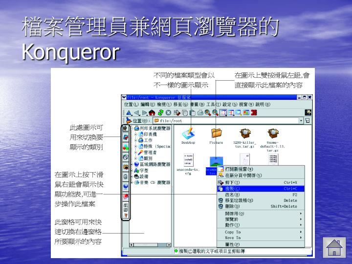 檔案管理員兼網頁瀏覽器的
