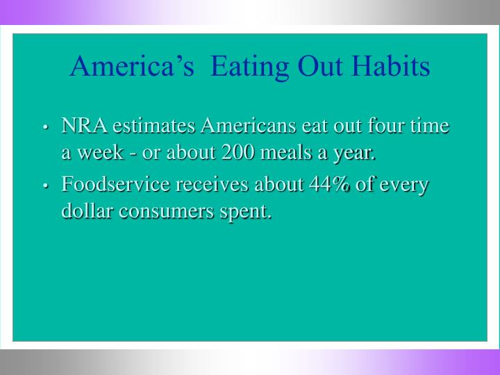 America s eating out habits