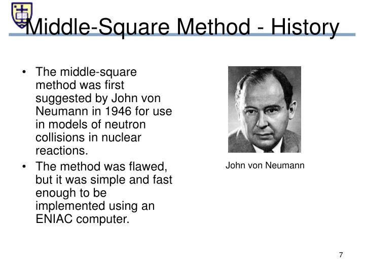 Middle-Square Method - History