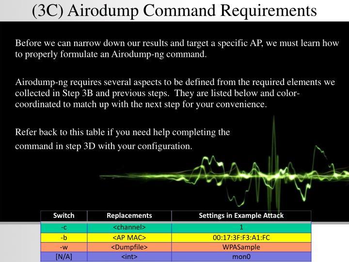 (3C) Airodump Command Requirements