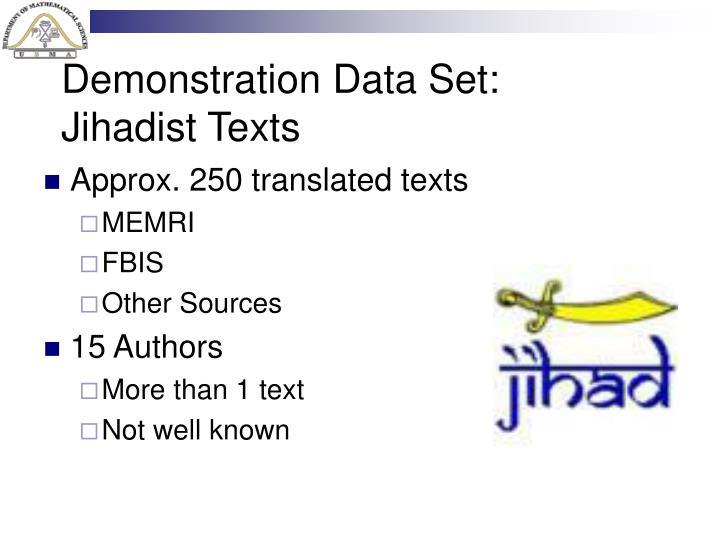 Demonstration Data Set: