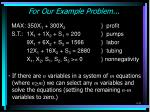for our example problem